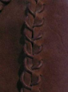 Mütze mit Fellbesatz Nahtdetail