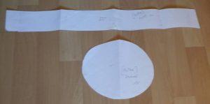 Mittelalter Mütze oval Schnittmuster